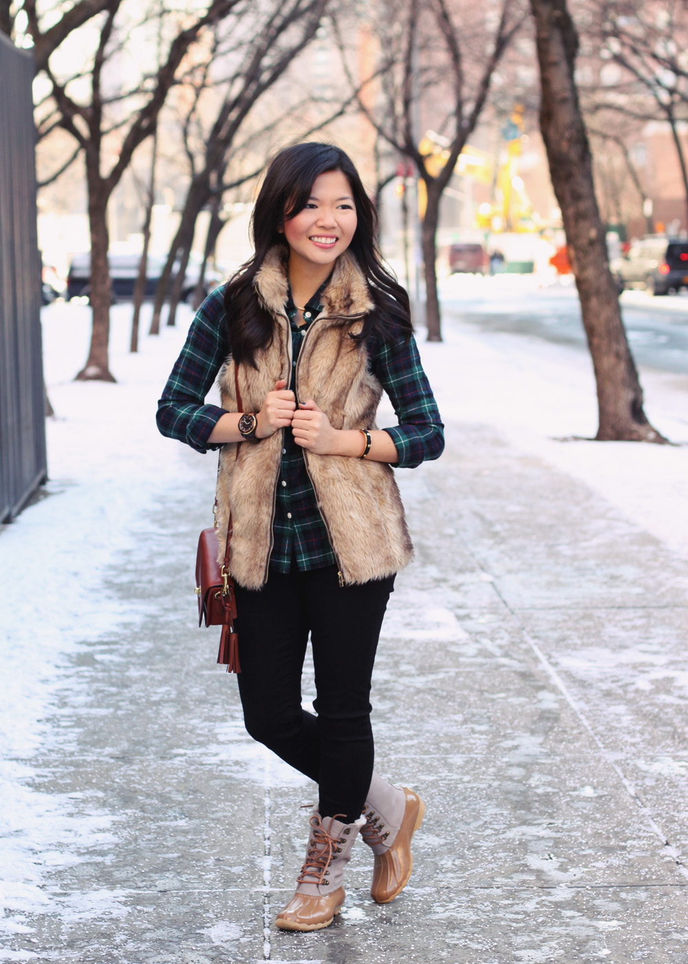 Flannel Fur Skirt The Rules Nyc Style Blogger
