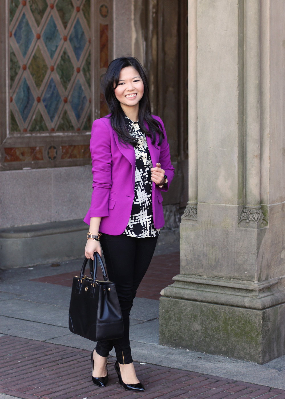 perfect violet blazer outfit women