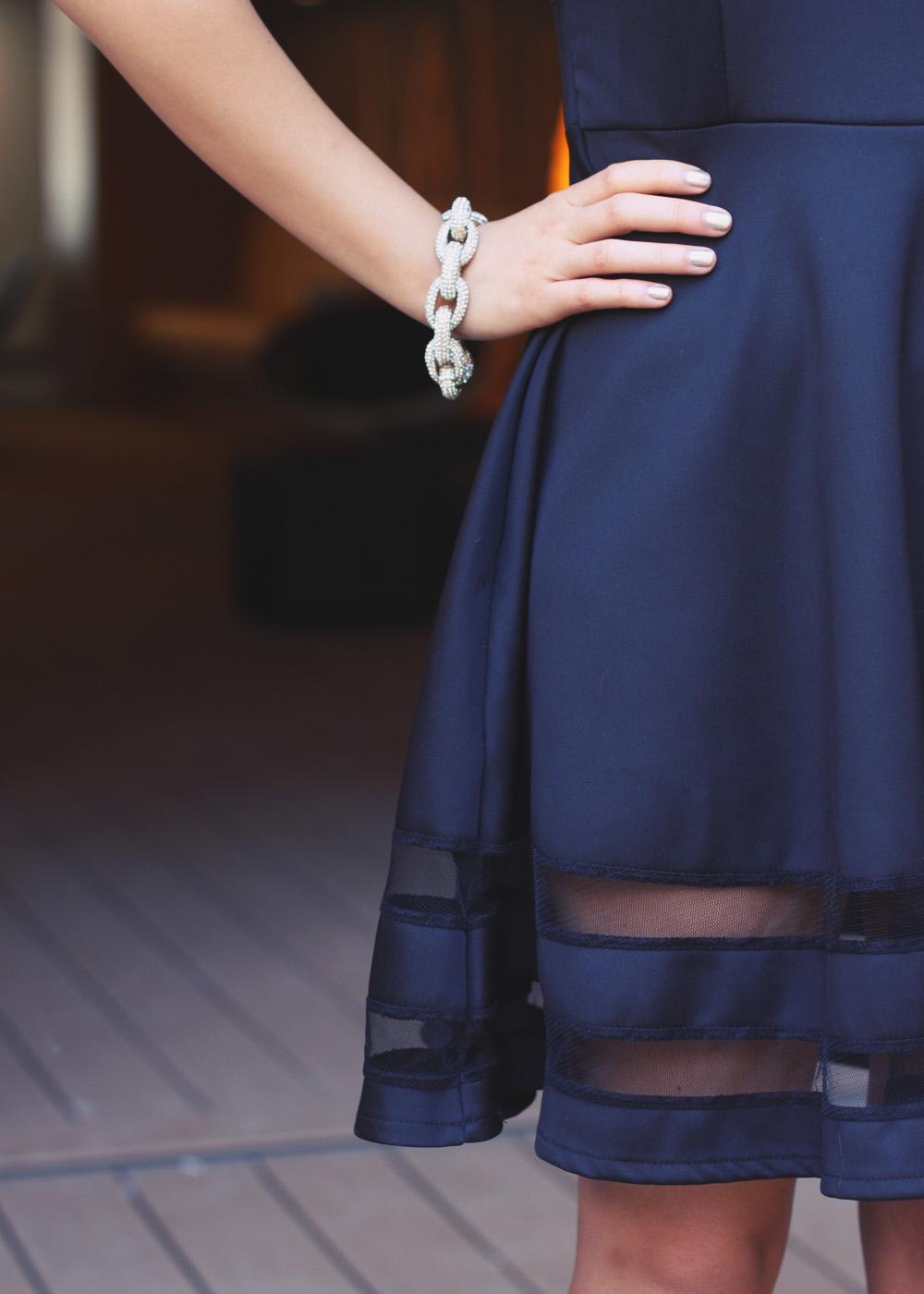 ILY Couture Basilissa Pave Link Bracelet