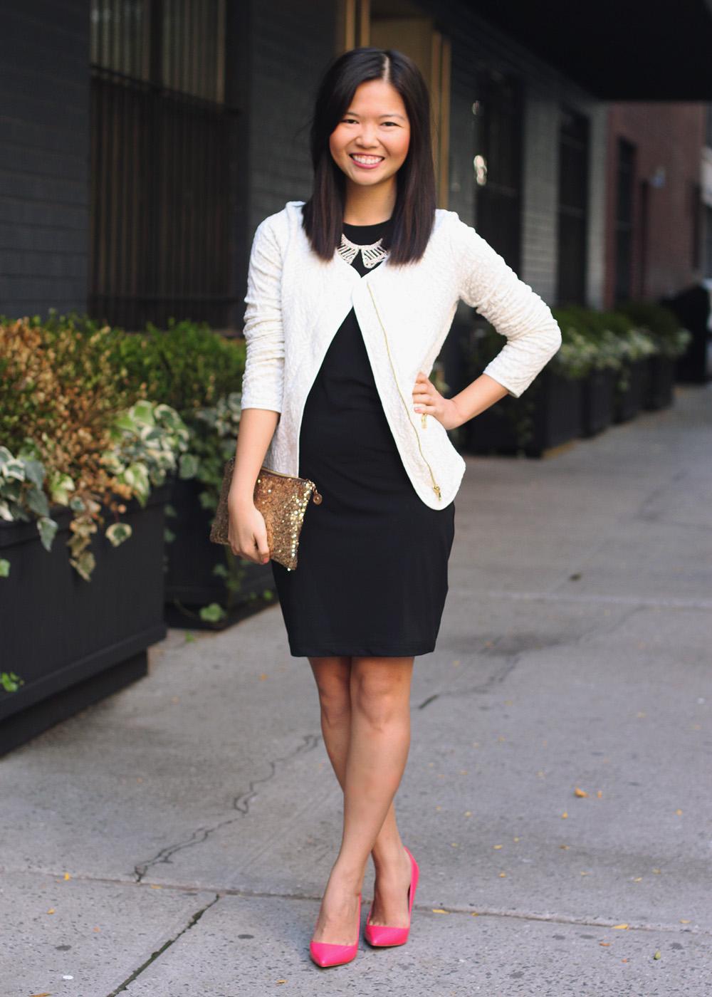 sleeveless black dress with jacket « Bella Forte Glass Studio