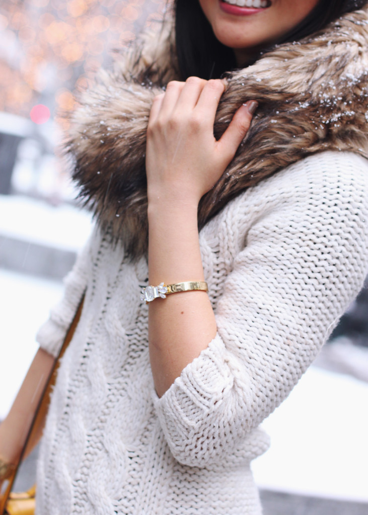 Faux Fur and Cable Knits