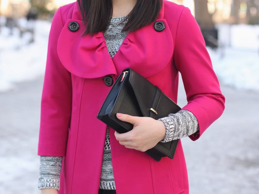 Hot Pink Swing Coat