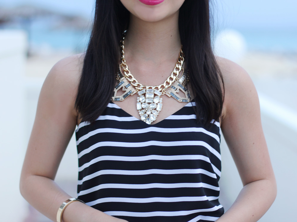 Sequin Crystal Statement Necklace