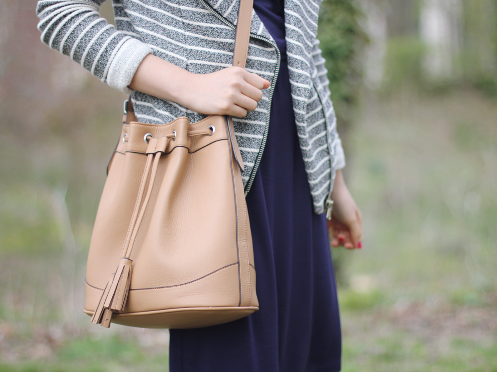 Old Navy Bucket Bag with Tassels
