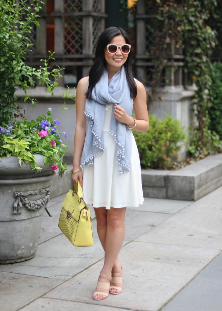 White Dress & Pastel Accessories