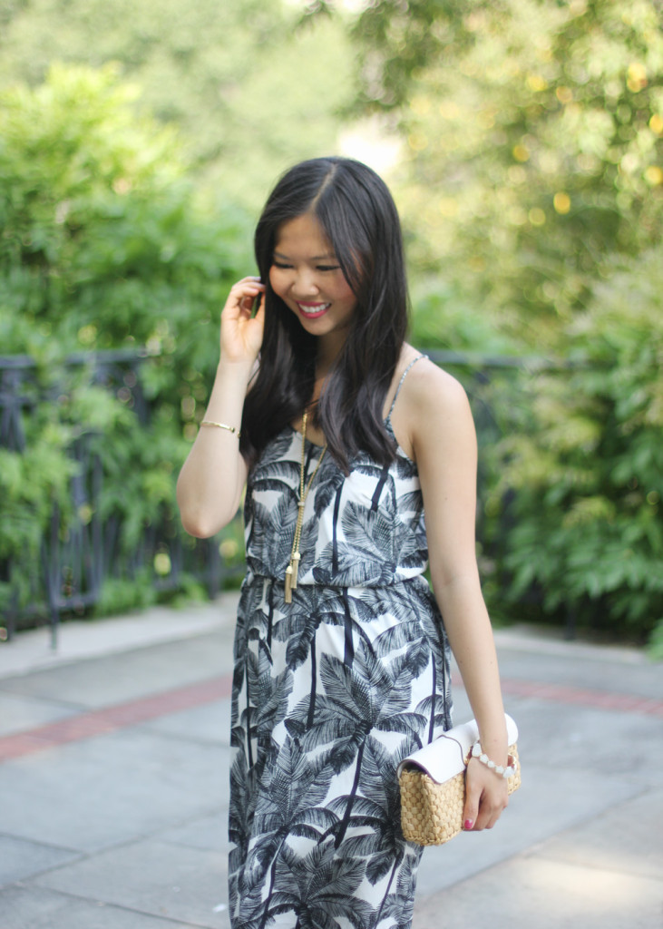 H&M Black and White Printed Summer Dress