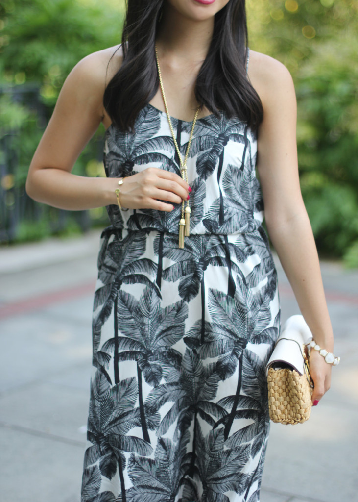 Black and White Printed Summer Dress