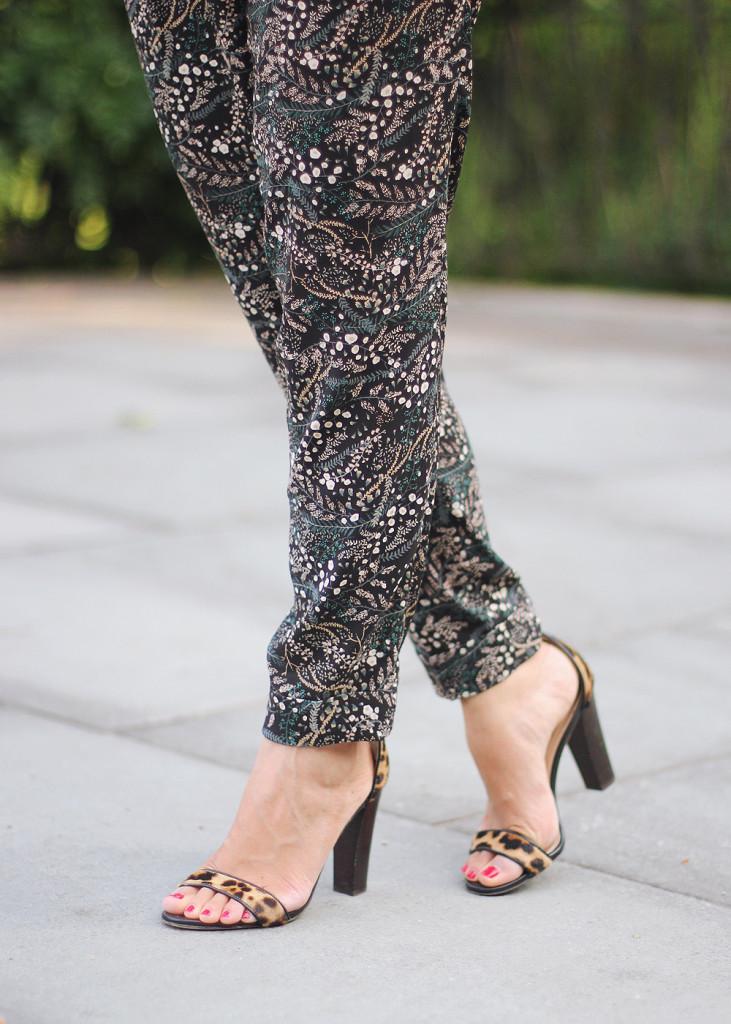Printed Pants & Leopard Heels
