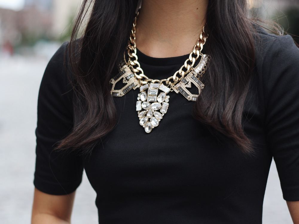 Crystal Arrowhead Statement Necklace