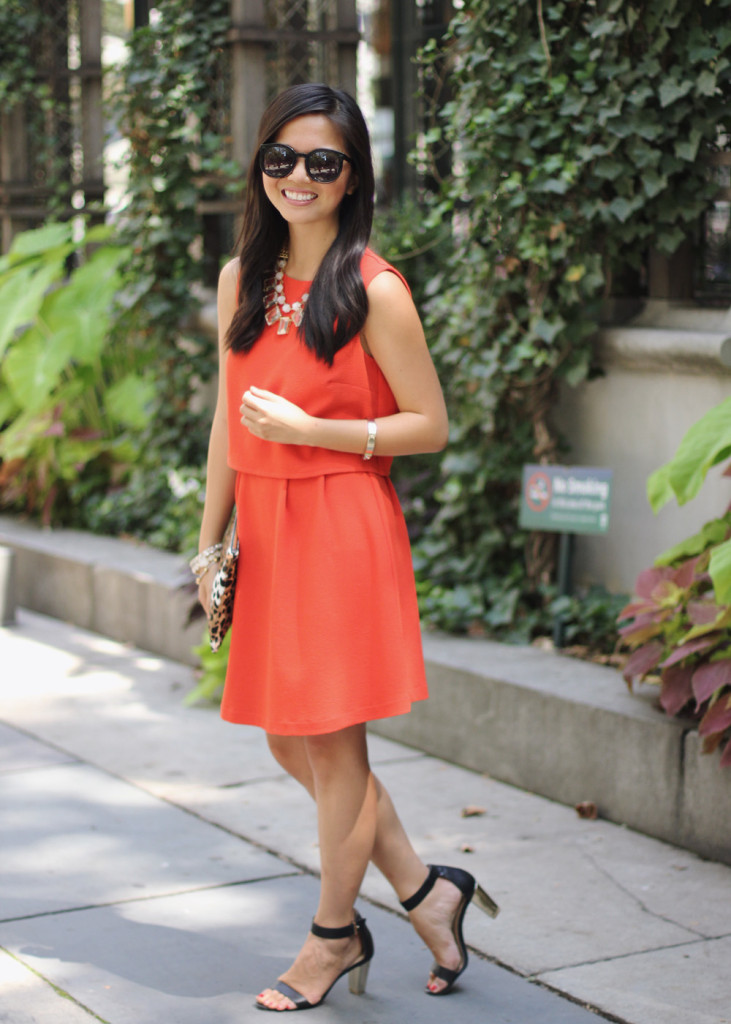 Bright Red Crepe Dress