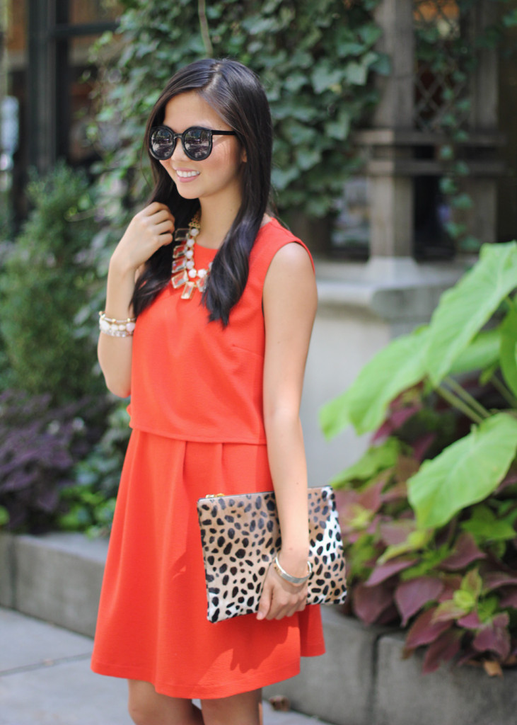 Bright Red & Leoprd Outfit