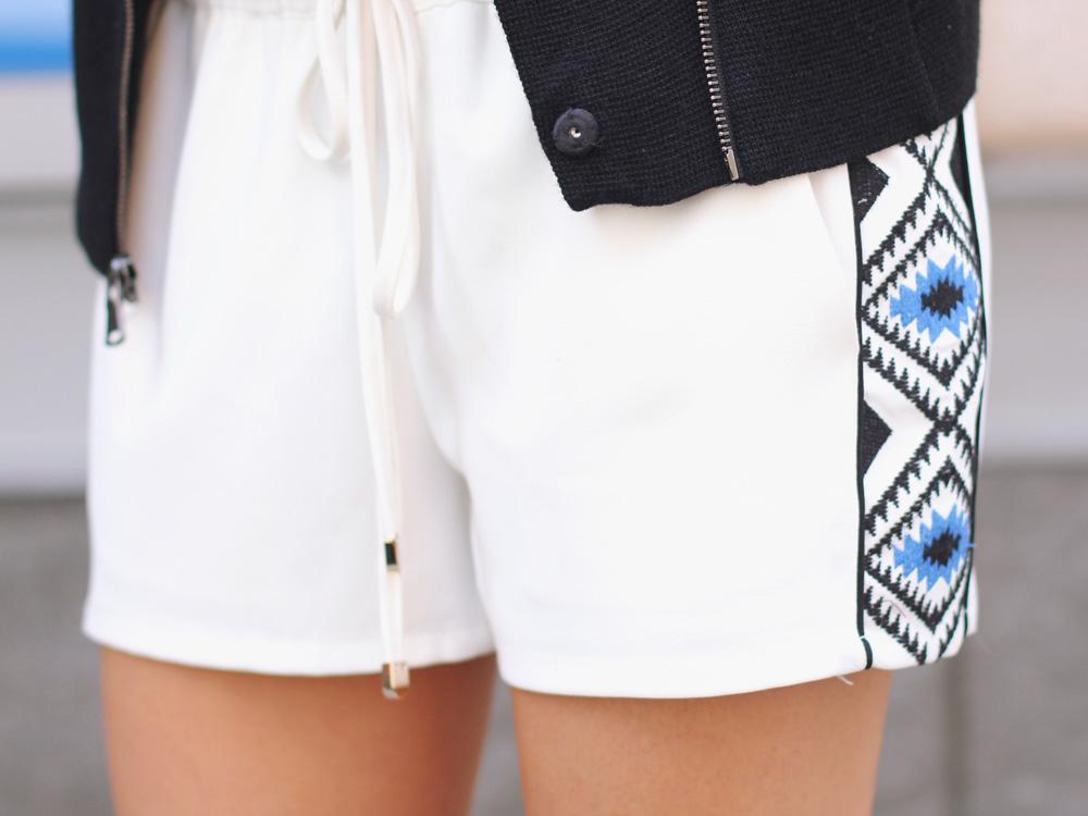 White Drawstring Shorts