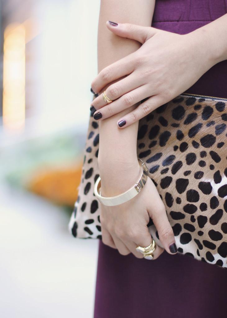 Leopard Calf Hair Clutch