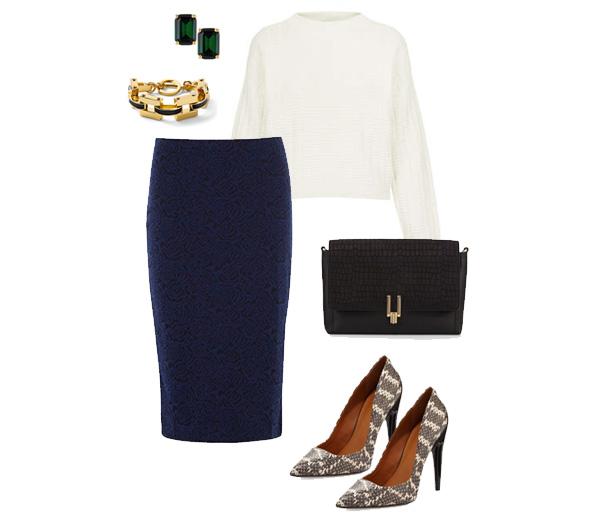 Knit Sweater & Pencil Skirt