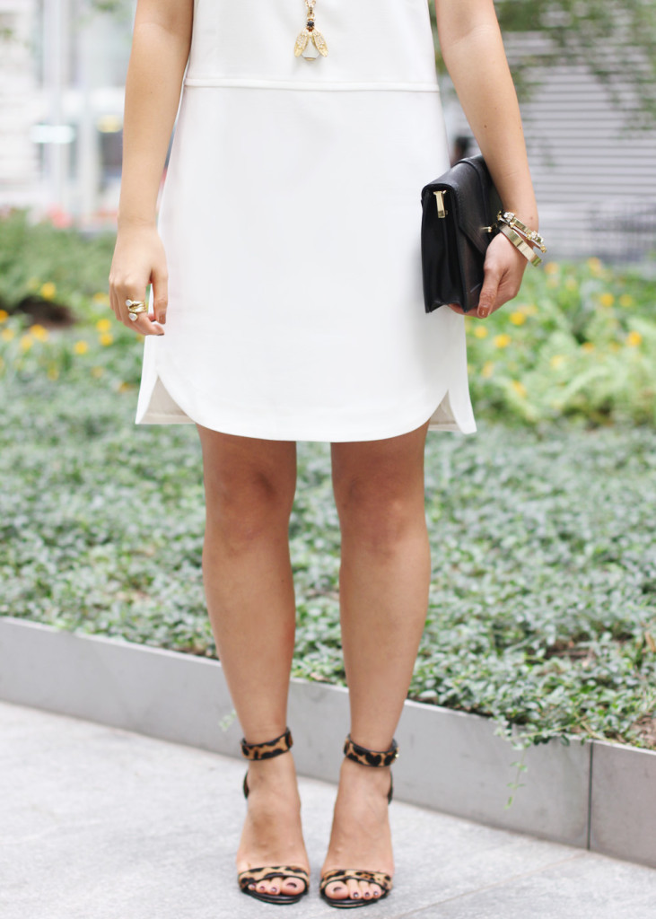 Little White Dress & Leopard Heels