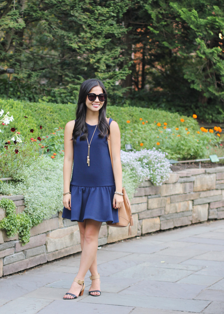 Navy Dropwaist Dress