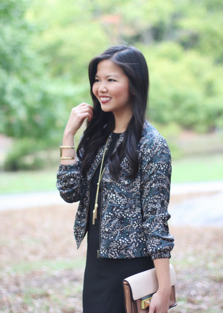 Fall Floral Bomber Jacket