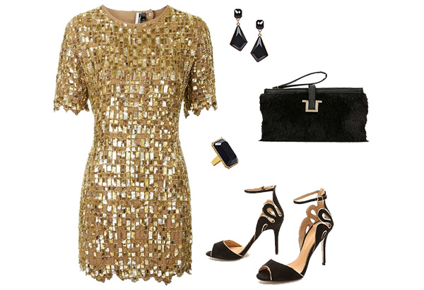 Skirt The Rules // What to Wear for NYE // Gold Sequin Dress