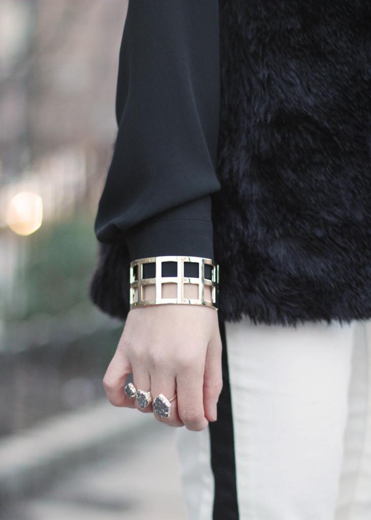 Skirt The Rules //  Black, White & Gold