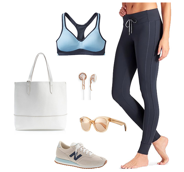 Skirt The Rules // Blue, White & Blush Gym Outfit
