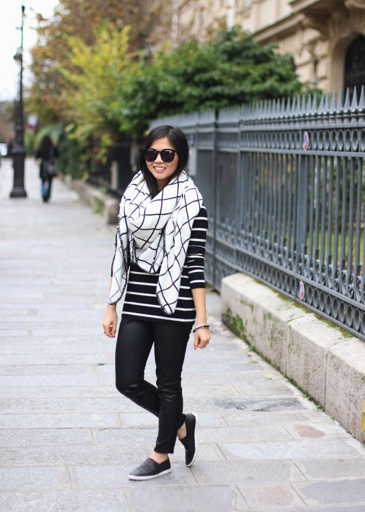 Windowpane & Stripes Winter OUtfit