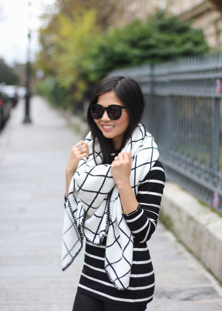 ASOS Oversized Black and White Scarf