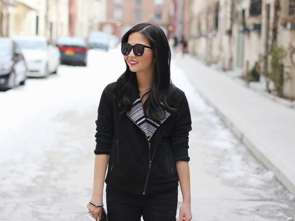 Skirt The Rules // Black Moto Jacket & Skinny Jeans