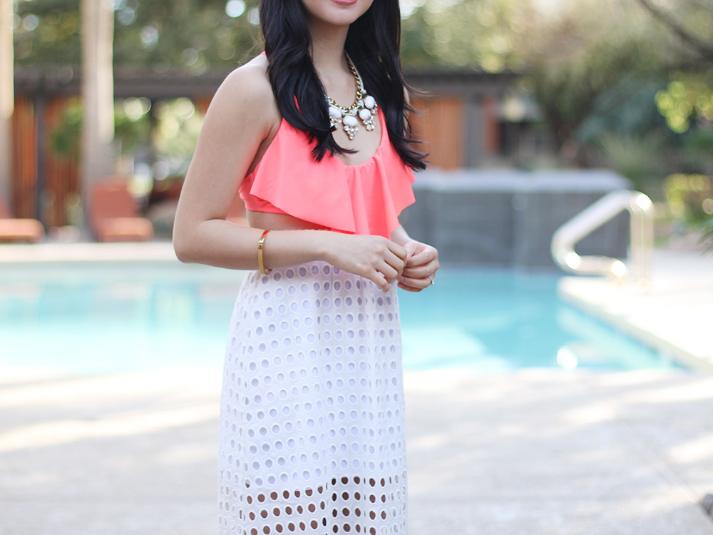 Skirt The Rules // Spring Break Pool Outfit