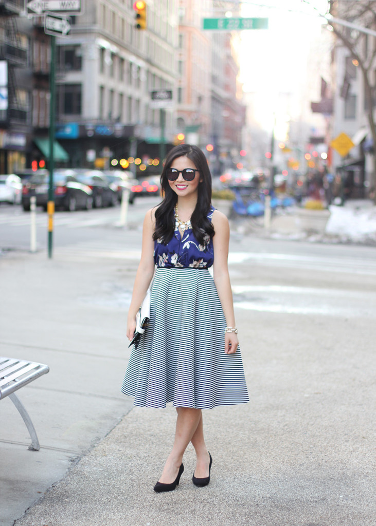 Skirt The Rules // How to Wear Floral & Stripes