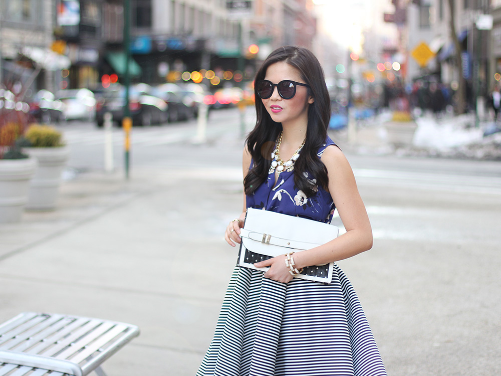 Skirt The Rules // Floral & Stripes