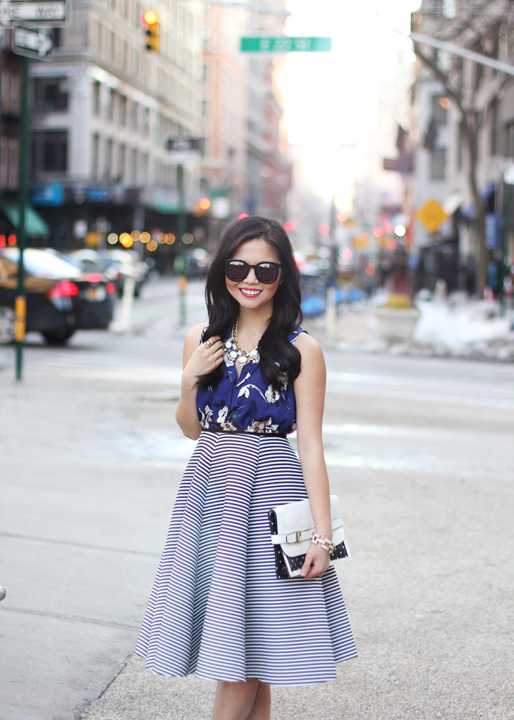 Skirt The Rules // Mixed Print Outfit