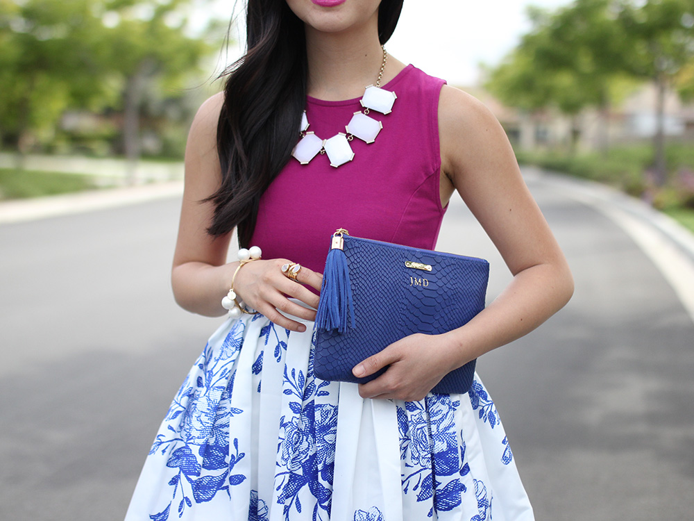 Skirt The Rules // Fuchia, Blue & White Outfit