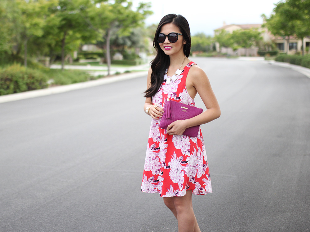 Skirt The Rules // Red Floral Summer Dress