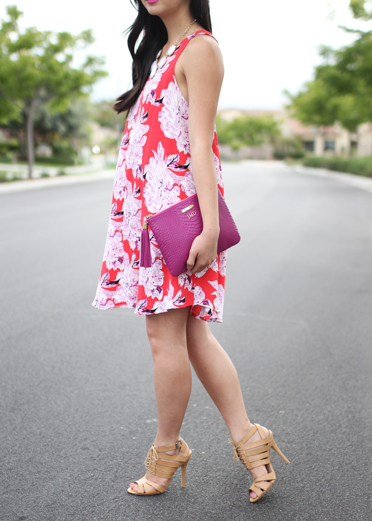 Skirt The Rules // Red Floral Trapeze Dress