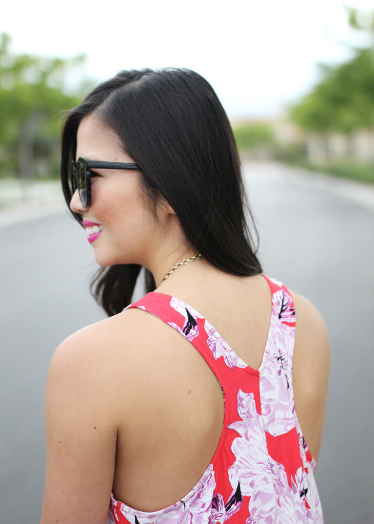 Skirt The Rules // Red Floral Racerback Dress