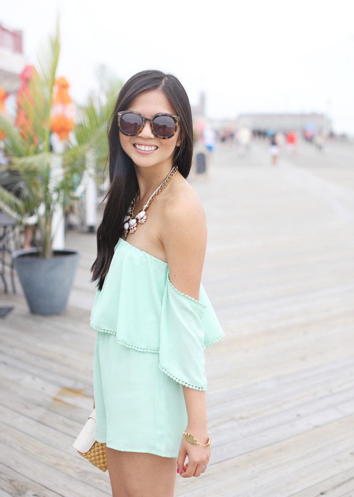 Skirt The Rules // Off The Shoulder Romper