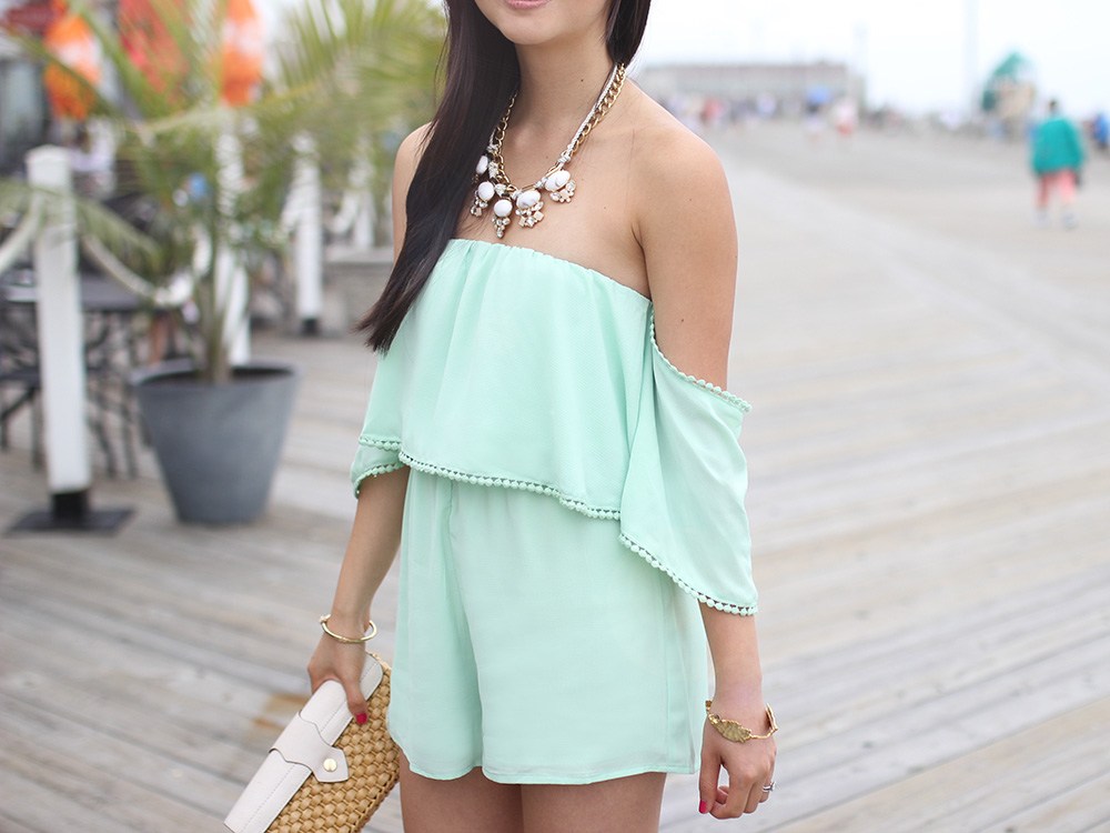 Skirt The Rules // Mint Green Romper