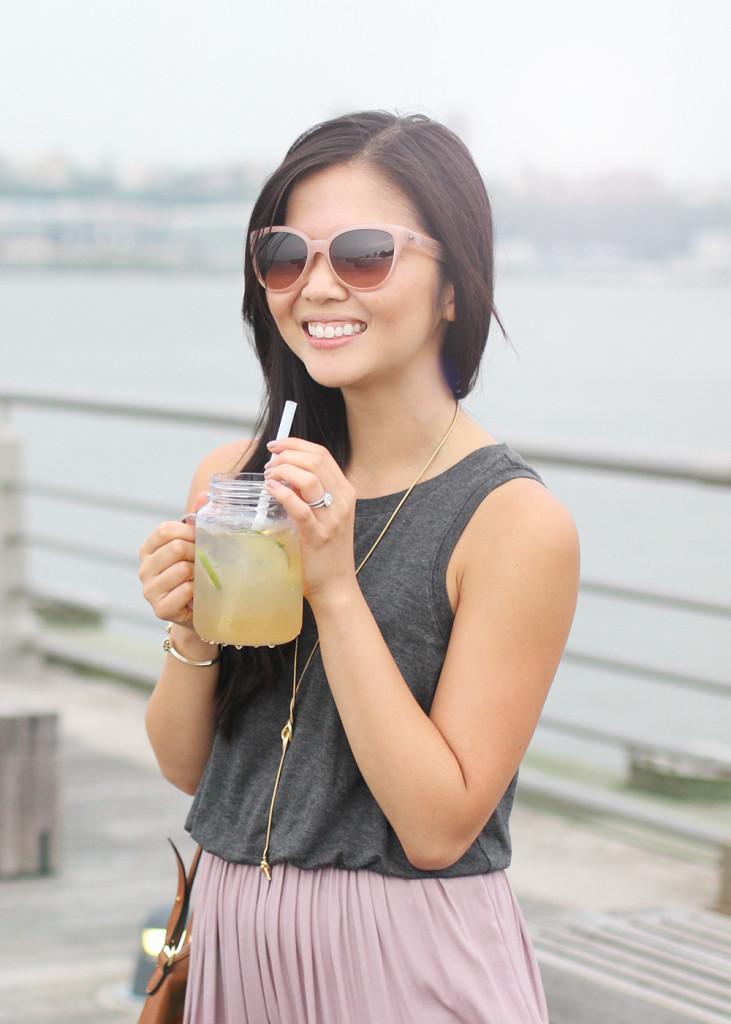 Skirt The Rules // Blush Sunglasses