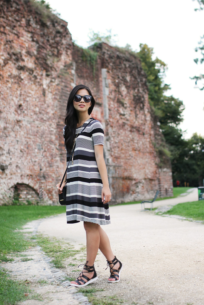 Skirt The Rules // Striped Trapeze Dress