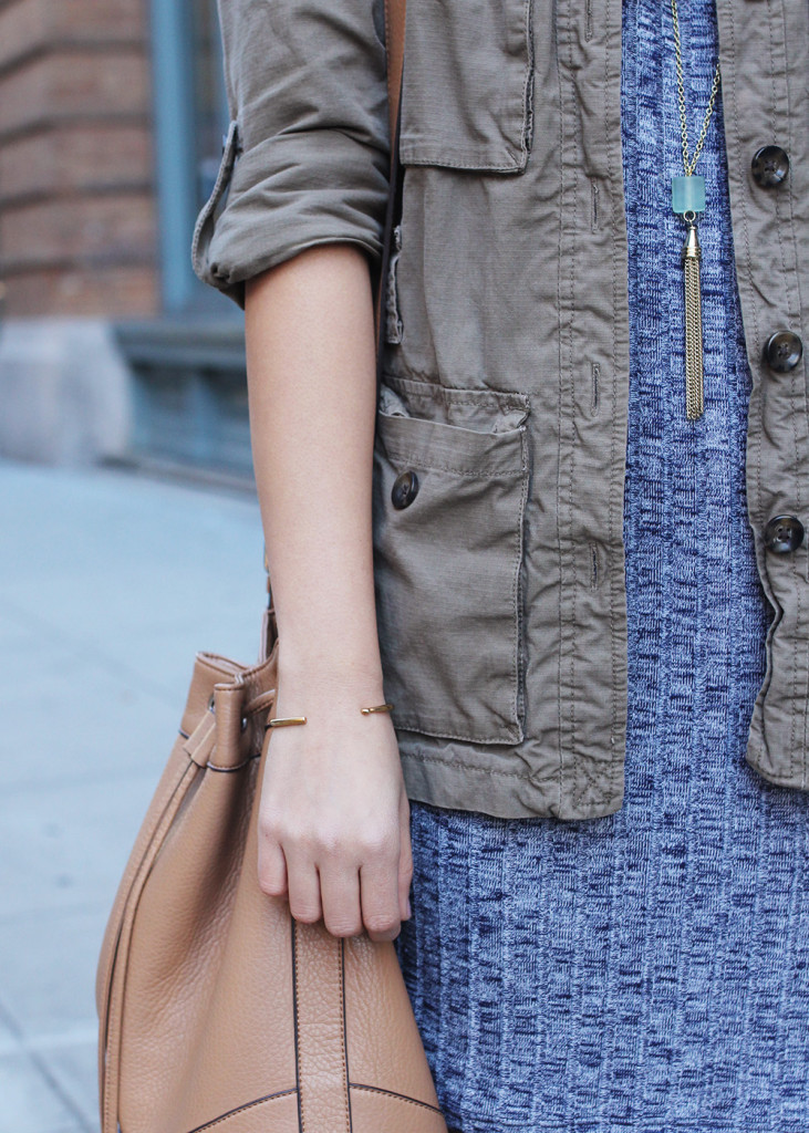 Skirt The Rules // Sweater Dress & Army Jacket