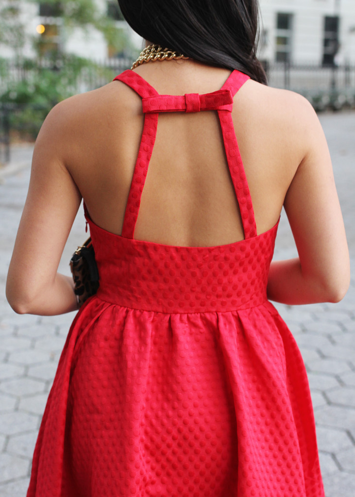 Skirt The Rules // Little Red Dress with Bow Detail