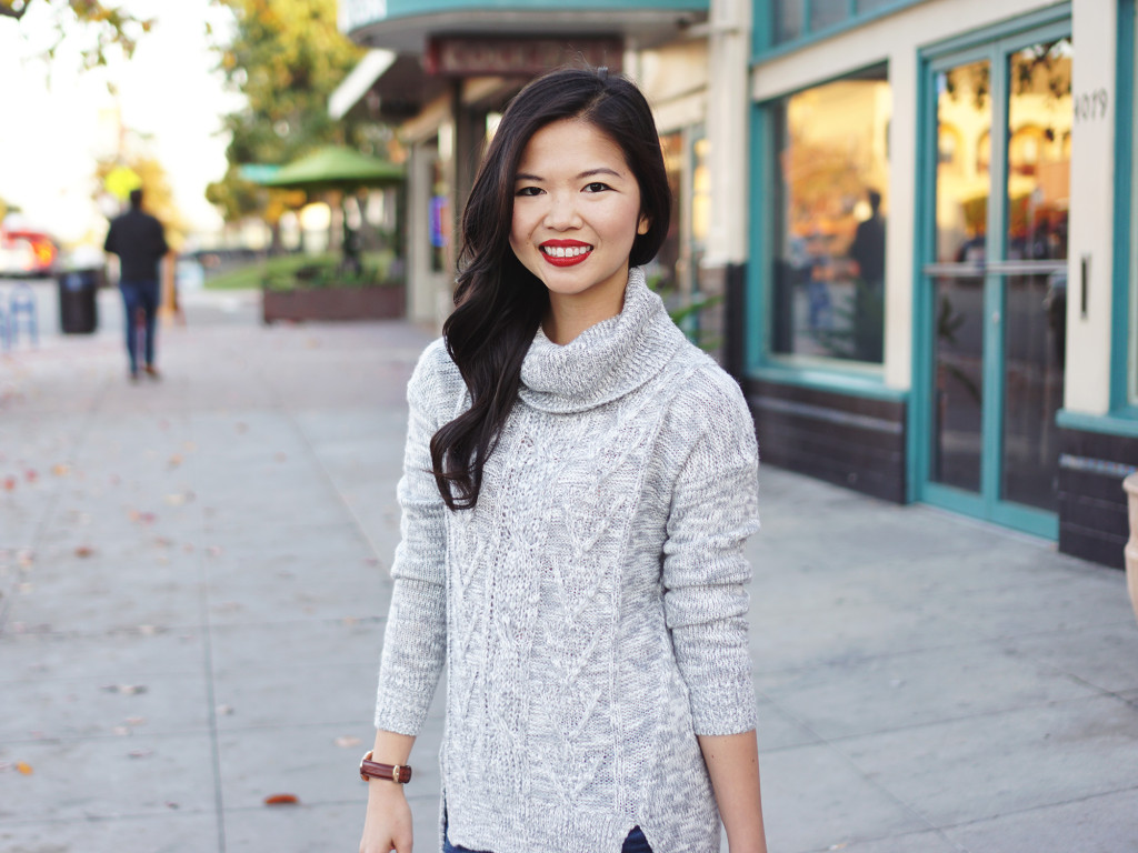 Skirt The Rules / Grey Turtleneck Sweater