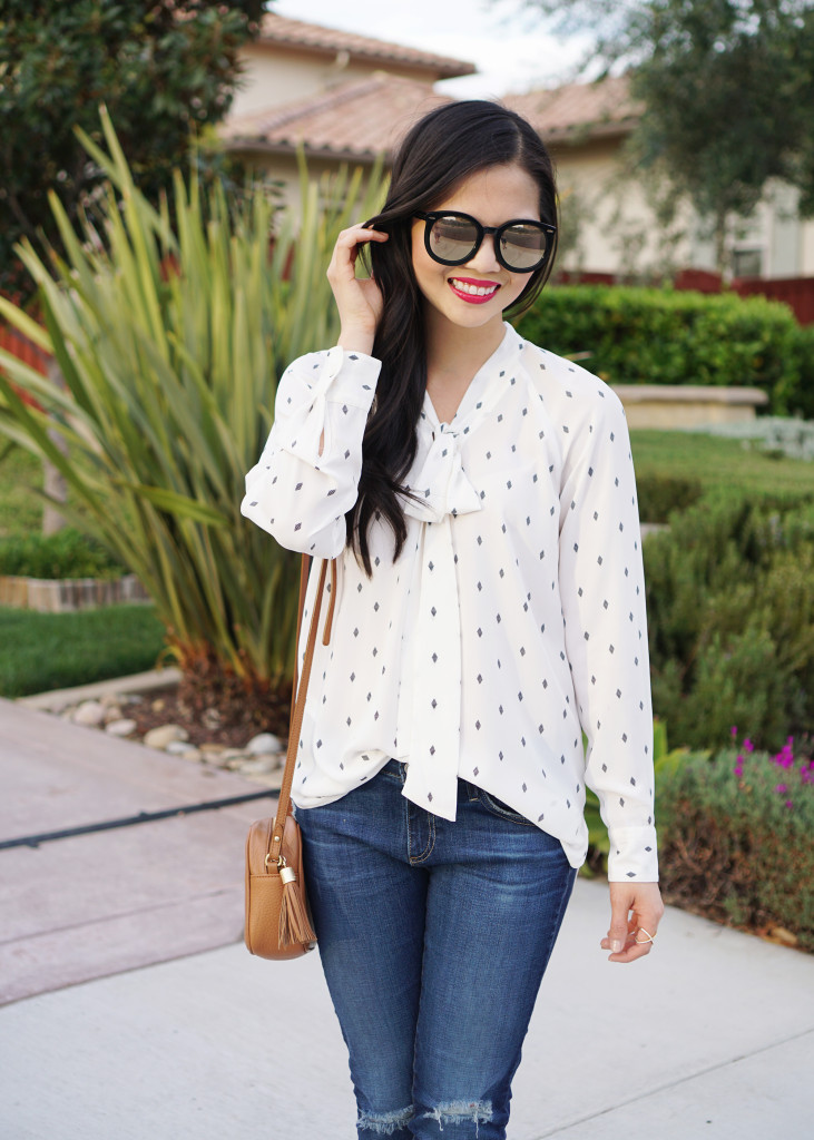 Skirt The Rules / Bow Blouse & Skinny Jeans