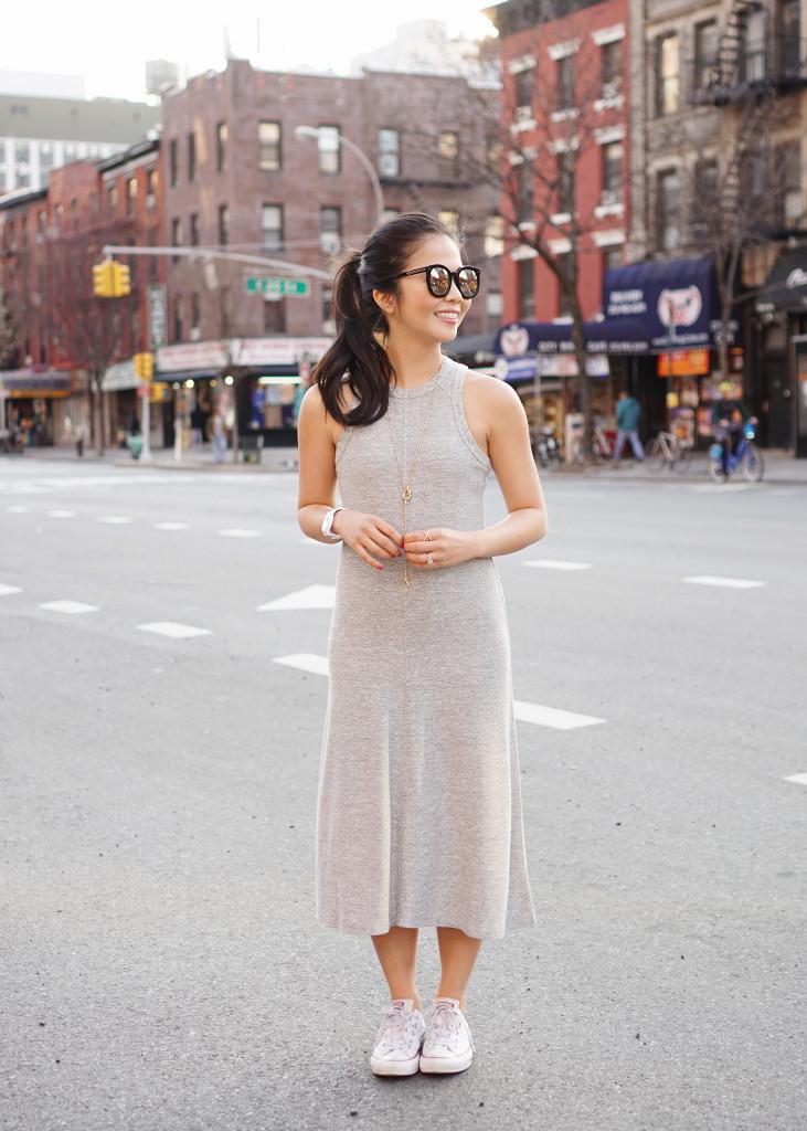 Skirt The Rules / Grey Sporty Racerback Dress