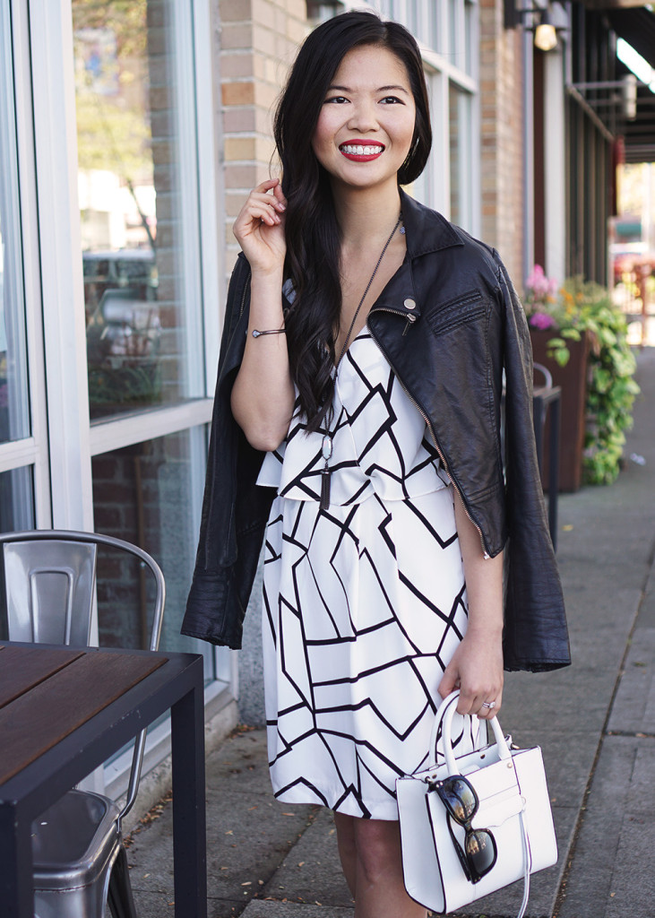 Skirt The Rules Black and White Graphic Dress 3