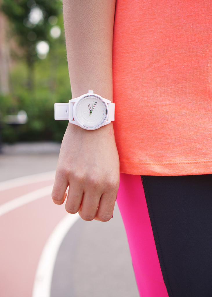 Skirt The Rules / White Athletic Watch