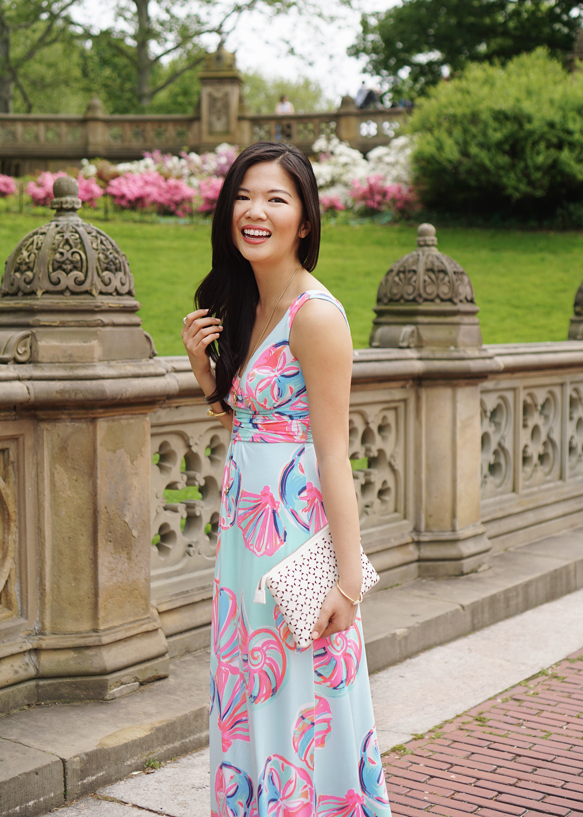 Lilly Pulitzer Sloane Maxi Dress Skirt The Rules Nyc Style Blogger