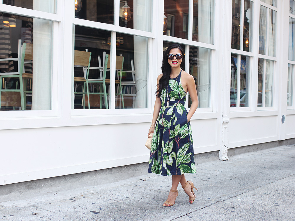 Skirt The Rules / Palm Leaf Print Dress