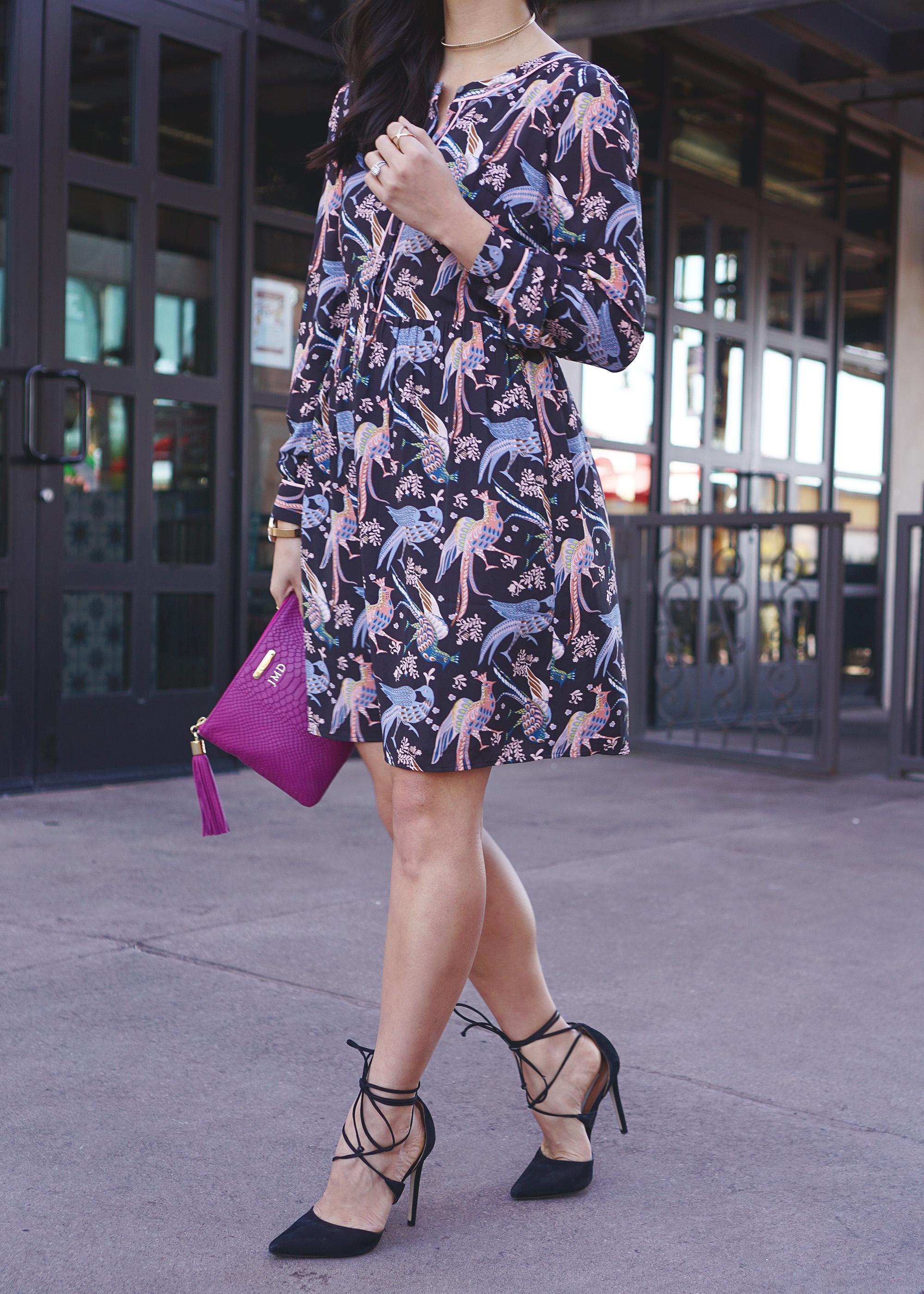 Skirt The Rules / Bird Print Dress