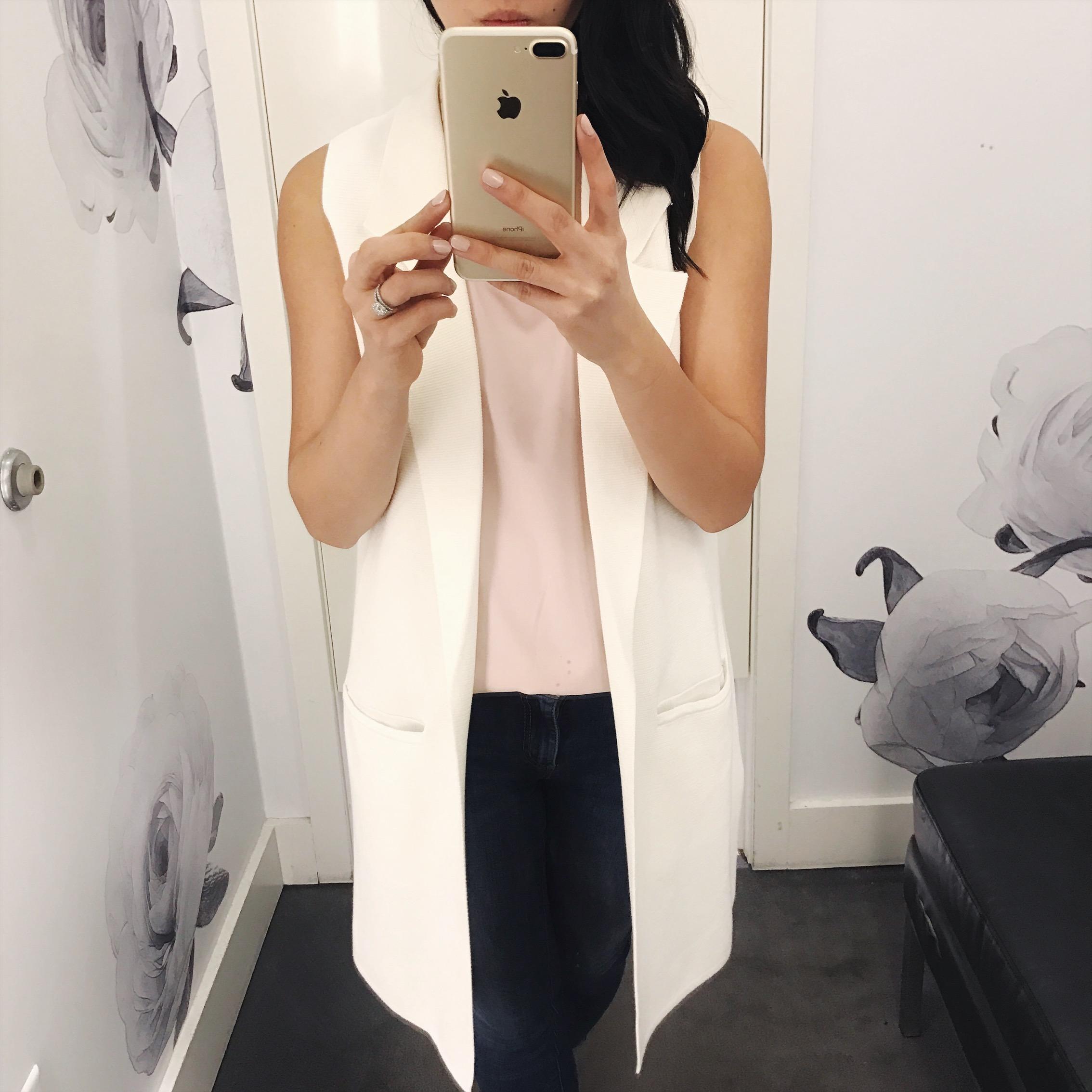 Spring Trends: White Sleeveless Vest